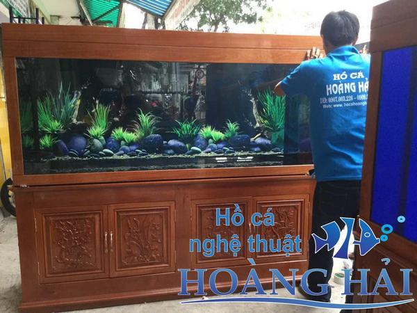 Hình ảnh lắp đặt tại Hồ cá nghệ thuật Hoàng Hải